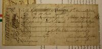 1816 NEWFOUNDLAND PLACENTIA SCRIP NOTE - SWEETMAN - MULTIPLE SIGNATURES