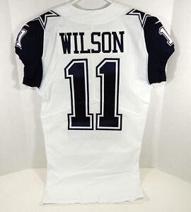 2018 Dallas Cowboys Cedrick Wilson #11 Game Issued White Jersey C Rush 100 P 8