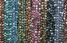 Pinch beads PICASSO doppio piramidi perline di vetro circa 5x3 mm ca. 350 X, 10 matasse