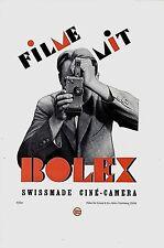 Original vintage poster print BOLEX SWISS FILM CAMERA 1929 Cyliax