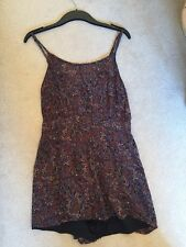 Topshop Floral Playsuit Jumpsuit All In One Lined Size 12