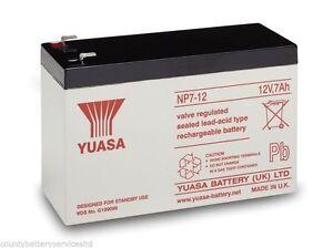 GENUINE YUASA 12 VOLT 7AH BURGLAR ALARM BATTERY RECHARGEABLE BATTERY (12V 7AH )
