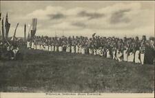 Native Ponca Indians Sun Dance George Cornish Arkansas City Postcard c1910