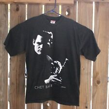 Chet Baker Vintage T Shirt 1990 Made USA 90s Lee Tanner Atlanta Mens Black Sz XL