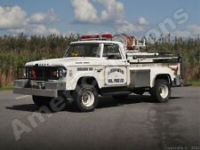 1966 Dodge Power Wagon Metal Sign: Leipsic Volunteer Fire Department Truck