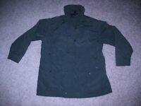vtg Woolrich Men's Jacket Coat Dark Pine Rugged Outdoorwear Large L Button Zip