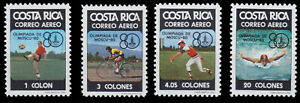 Costa Rica 1065/68 Olympiad 1980 Moscow, Mint