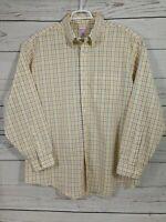 Brooks Brothers Dress Shirt ~ Button Up ~ Long Sleeves ~ Plaid ~ Men's XL 346