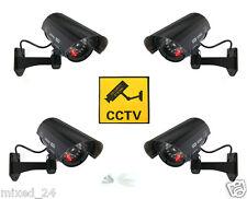 4x Dummy Überwachungskamera LED Fake Alarmanlage Attrappe CCTV Kamera Schwarz
