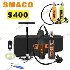 SMACO Mini Scuba Diving 1L Oxygen Cylinder Tank Equipment Breath Kit Hand Pump