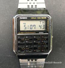Rare & Vintage CASIO Calculator CA-505 (437) Silver Japan U 33mm - New Battery