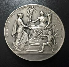 Art Nouveau solidarity with others brings happens Silver plated Bronze medal M72