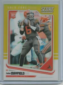 Baker Mayfield RC 2018 Panini Honors Score GOLD REFRACTOR /50 ROOKIE CARD Browns