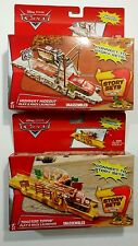 New Disney's Pixar CARS Play & Race Deluxe Launcher Story Sets Toys - Set of 2