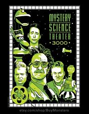 MST3K Poster Art Print - Mystery Science Theater 3000 Characters Illustrated Art