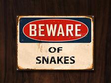 Beware of Snakes, Metal Sign, Beware Sign, Beware Signage, Beware Signs, 369