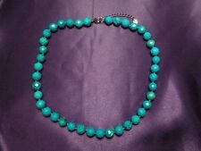 LUC Sterling Silver Faceted Turquoise Necklace