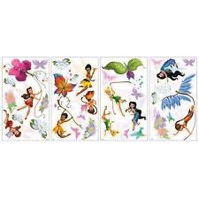 DISNEY FAIRIES wall stickers 30 decals Tinker Bell Fawn Iridessa scrapbook decor
