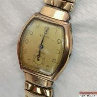 Vintage Benrus Swiss 15j Wrist Watch Model BB 2 10K Gold Filled Parts or Repair