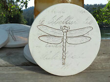 Clay Drink Coasters, DRAGONFLY ABSORBENT DRINK COASTERS - SET OF FOUR
