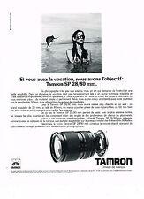 PUBLICITE ADVERTISING  1985   TAMRON  SP 28/80    objectif