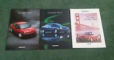 1996 CHRYSLER NEON UK BROCHURE 2 x Different Brochures + Single Sheet Leaflet