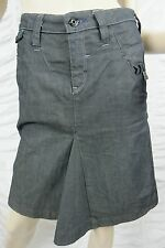 """G-STAR RAW indigo dark blue denim flared below knee skirt size 24"""" EUC"""