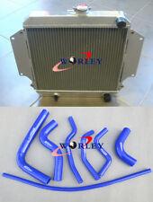 Aluminum radiator + Blue hose for SUZUKI SIERRA 1.3L SJ413 1984-1996 MT