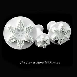 Snowflake Frozen Party Cookie Cutters Snow Flake Summer Set 3 Cutter Ice AUST