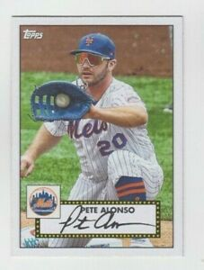 Pete Alonso 2021 TOPPS SERIES 1 1952 TOPPS REDUX INSERT #T52-20 METS