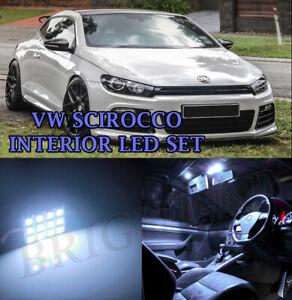 FOR VW Scirocco MK3 III FULL LED INTERIOR LIGHT UPGRADE ERROR FREE- XENON WHITE