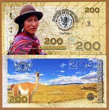 El Club De La Moneda 200 Dragones 2016 (2015) Polymer UNC> Native Bolivian Llama