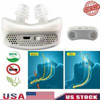 US Electric MiCPAP Anti Snoring Device Sleep Apnea Stop Snore Aid Stopper Mini