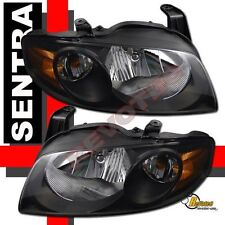 Black Housing Headlights Lamps For 04 05 06 Nissan Sentra SE-R S Base 1 Pair