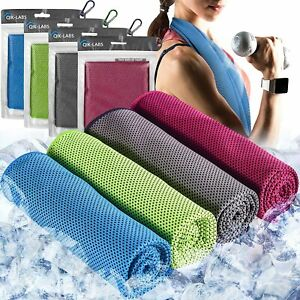 4pc Cooling Towel - Cooling Towels for Neck 4 Pack - Multipurpose Ice Towels
