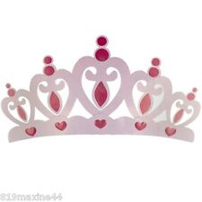 """Pink Metal Crown Wall Decor Over the bed 3D Princess Room Decor 26"""" x 14"""""""