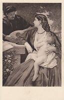 Postkarte - Anselm Feuerbach / Der Mandolinenspieler