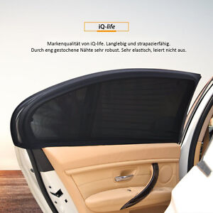 2x SONNENSCHUTZ von iQ Auto Pkw universal Sonnenblende Seitenfenster