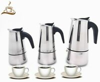 Stainless Steel Stove Top Espresso Coffee Maker,9/6/4 Cups