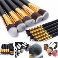 10pcs Professional Makeup Cosmetic Brushes Set Eyeshadow Lip Brush Tool Kit US