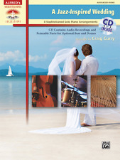 """A JAZZ-INSPIRED WEDDING"" ADVANCED PIANO SOLO MUSIC BOOK/CD-BRAND NEW ON SALE!!"