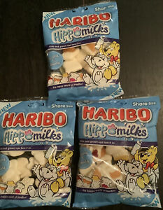 Haribo ~ Milk Hippos X3 Bags Marshmallow & Fruit-gums ~ 175 g New Hippo Milks