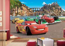 Disney wall mural wallpaper children's bedroom Cars Italy Scenery PREMIUM blue
