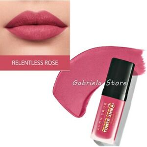 Avon True Power Stay Long Lasting Lipstick Lip Color 16h Matte Relentless Rose