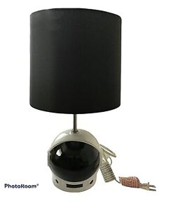 Spaceman Astronaut Helmet Table Lamp, Black Shade- By Pillowfort