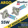 CITROEN Xénon Blanc H7 55W halogène Trempé AMPOULES DE PHARE 6000K (paire)