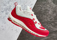 Nike Men's Air Max 98 University Red White 640744-602 Running Shoes NEW
