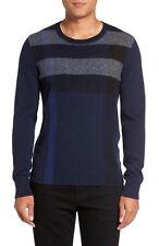 NWT Auth Burberry M Medium Check Plaid Feldon Cotton Cashmere Crewneck Sweater