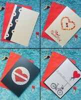 """HAND MADE ELEGANT LOVE VALENTINE'S DAY CARDS by """"HK STUDIOS"""""""