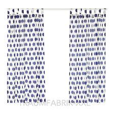 IKEA SOMMAR 2017 Gardinenpaar 145x300 cm weiß blau Gardinen Vorhang Vorhänge NEU